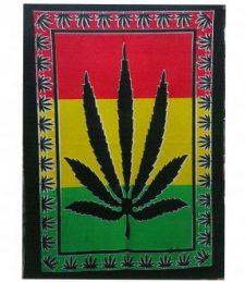 Baumwoll-Wandtücher – Cannabisblatt