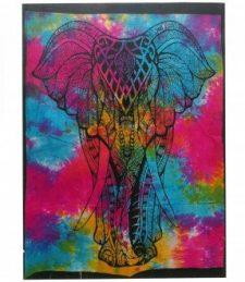 Baumwoll-Wandtücher – Elefant
