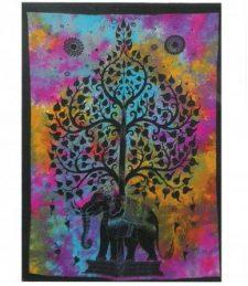 Baumwoll-Wandtücher – Elefantenbaum