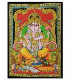 Indische Baumwollwandtücher Ganesh