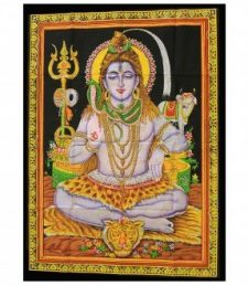 Indische Baumwollwandtücher Sitzender Shiva