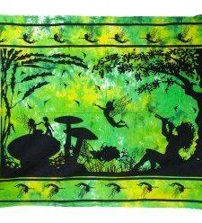 Wandtücher aus Indien (Fee unter einem Baum)